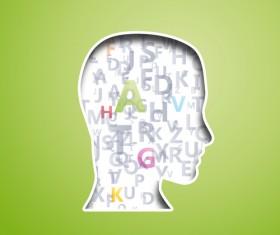 Creative Humans head design elements 03