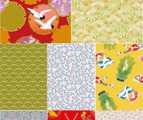 Japanese pattern background art