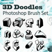 Link to3d doodles photoshop brushes