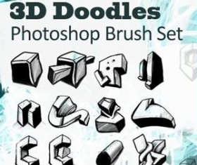 3D Doodles Photoshop Brushes