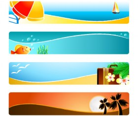 Sunshine beach banner design vector