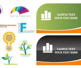 card and the logo template