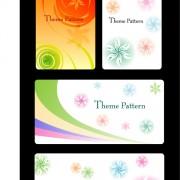 Link toColor floral card design vector
