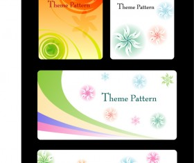 Color Floral card design vector