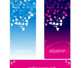 leaves of Floral card design vector