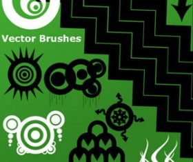 Set of vector Photoshop Brushes
