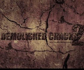 Demolished Cracks Photoshop Brushes