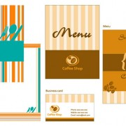 Link toMenu card template vector graphic