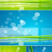 Link toGreen and blue glare background vector graphic