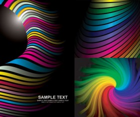Colored rainbow background vector