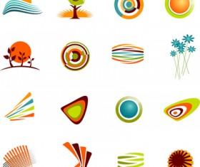Cartoon simple icons vector
