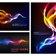 Link toAbstract colored smoke background design vector