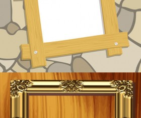 Photo frames background  vector material
