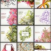 Link toStylish decorative pattern background vector set