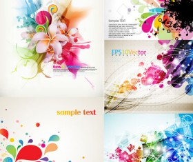 Creative colorful background vector material
