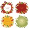 Simple and beautiful wreath art vector