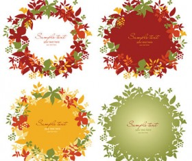 Simple and beautiful wreath art vector
