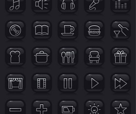 Simple black Icon vector