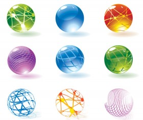 Round crystal ball Icon vector