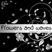 Flowers and waves photoshop brushes