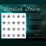 Stylish star brushes pack photoshop brushes