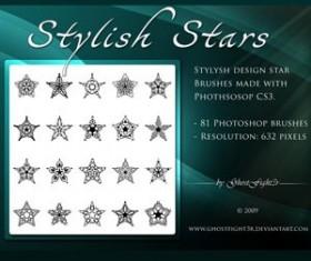 Stylish Star brushes pack Photoshop Brushes