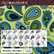 Hand drawn paisley photoshop brushes