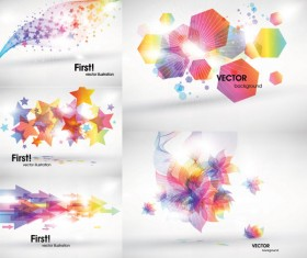 Abstract colored the light pattern art vector