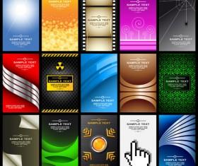 Modern cards backgrounds set vector