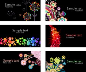 beautiful cards background vector