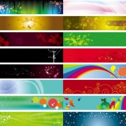 Link toDecorative banner background vector material
