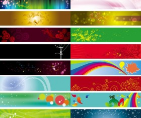 Decorative banner background vector material