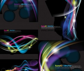 Creative glare background design vector
