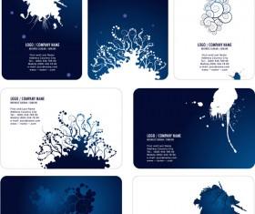 Ink Floral card template design vector