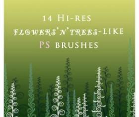 Flowers NtreesLike Photoshop Brushes