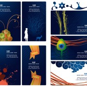 Link toBusiness card template set 2 vector graphics