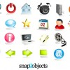 Three-dimensional crystal icons vector