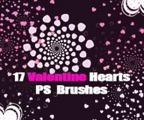Free Hearts Photoshop Brushes