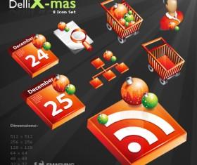 Stereo Christmas Icon vector