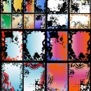 Decorative frame messy vector