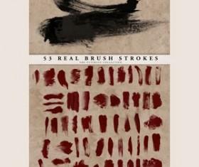 Real Brush Strokes Set Photoshop Brushes
