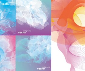 Creative smoke background vector material