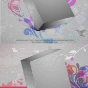 Link toThree-dimensional box flower background 3 vector