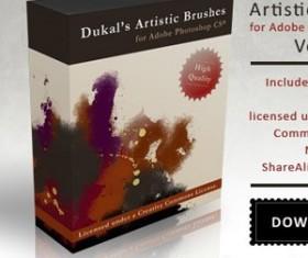 Artistic Brushes Pack 2 Photoshop Brushes