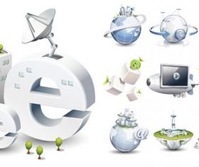 High-tech style icon 2 vector