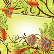 Link toBeautiful flowers decorative frame vector