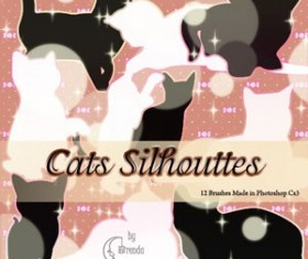 Cats Silhouettes Photoshop Brushes