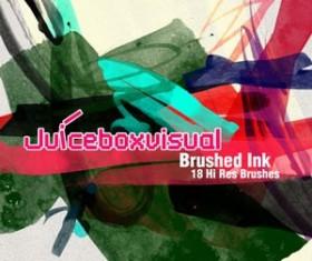 Brushed Ink Brushset  Photoshop Brushes