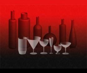 Bottles and Glasses Photoshop Brushes