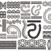 Link toDifferent lace design elements vector